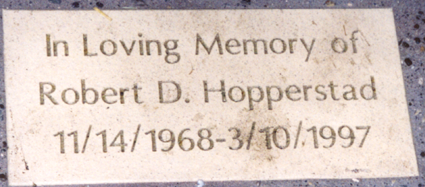 Robert's DNR memorial brick