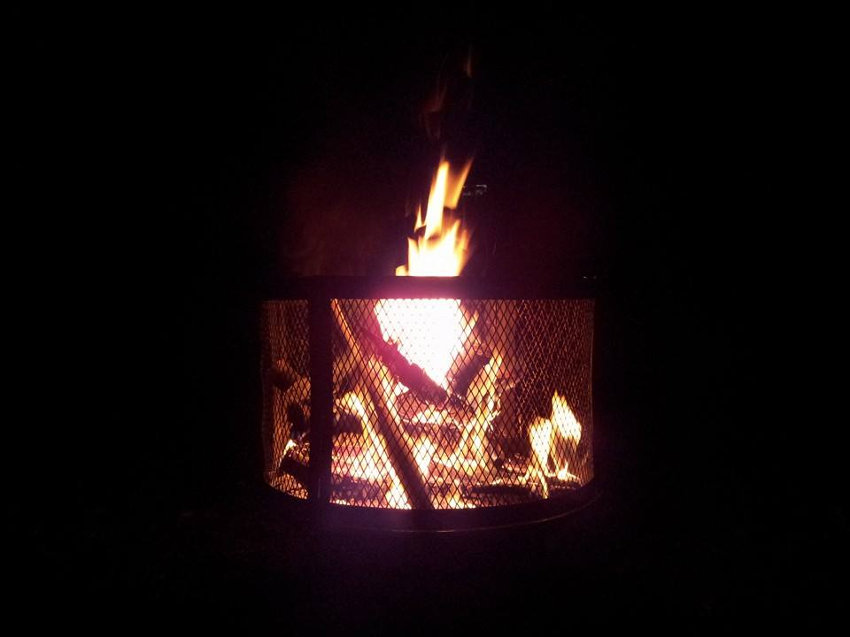 firepit in use